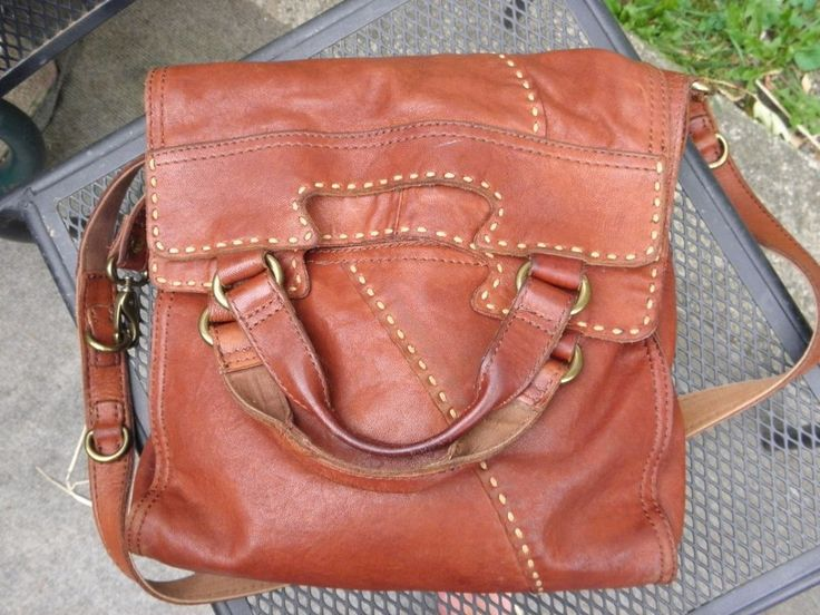 LUCKY BRAND ABBEY ROAD CROSSBODY BAG-BOURBON BROWN-ELENA'S BAG-VAMPIRE DIARIES  #LuckyBrand #CrossbodyMessenger -stain on back but still Beautiful- BUY IT NOW $99.99 eBAY ITEM #192001786665 - SOLD - On it's way to CA.