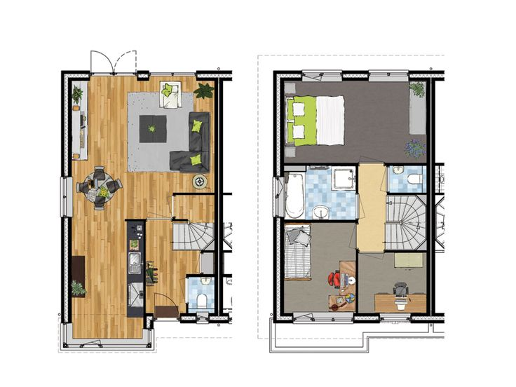 87 best plattegronden images on Pinterest Floor plans - badezimmerplanung online 3d