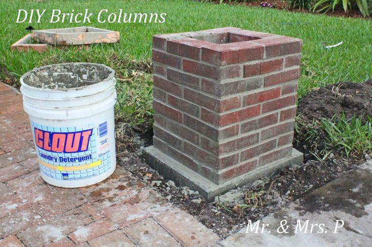 brick pillars   DIY Brick Columns