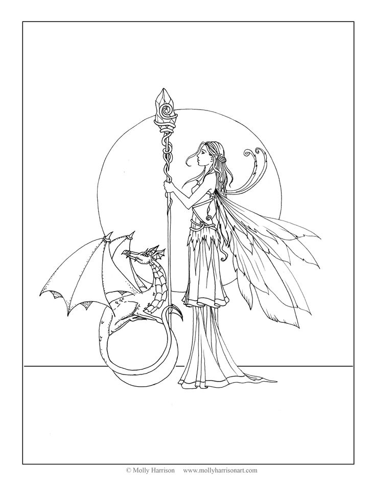 fairy coloring pages pinterest - photo#11