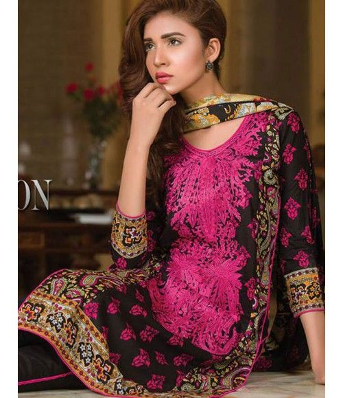 Signature Icon Embroidered Lawn Collection 2016 ZS_7B