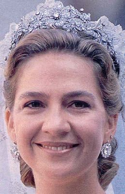 Tiara Mania: Floral Tiara worn by Infanta Cristina of Spain, Duchess of Palma de Mallorca