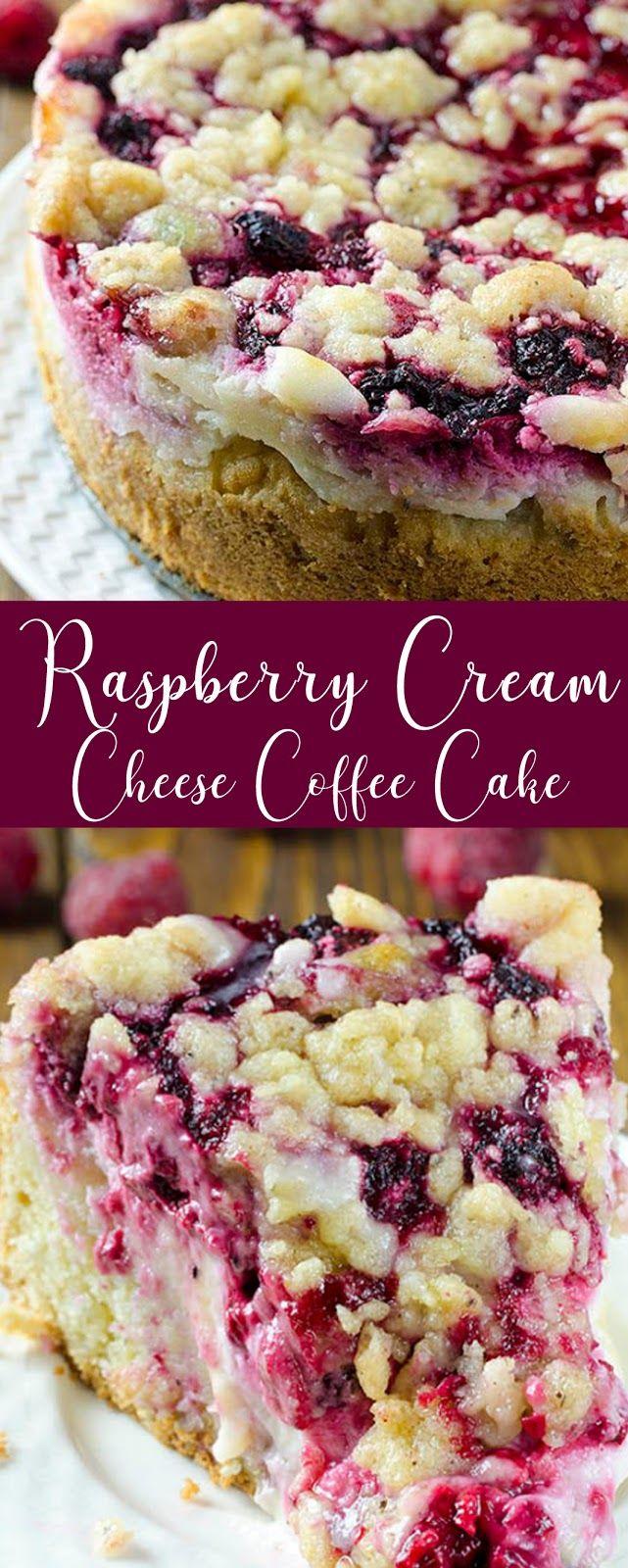 Recipe Raspberry Cream Cheese Coffee Cake #cake