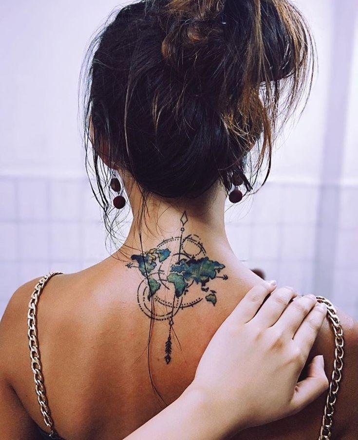 Красивые картинки тату на шее девушки