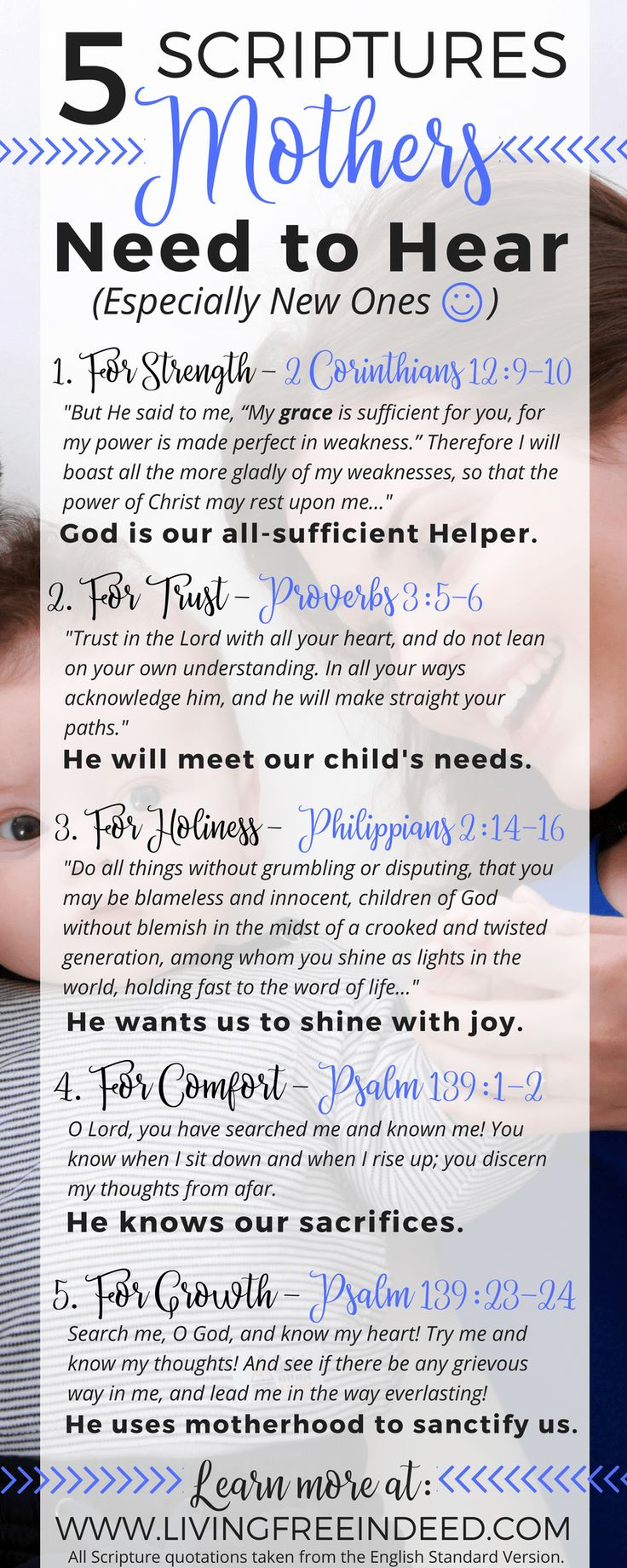 While having a newborn was a little overwhelming at first, these verses encouraged me to welcome the unique, sanctifying experiences of being a mom. | Bible Verses for Moms | How to Be a Good Christian Mom | Postpartum Depression | Devotionals for Moms | Newborn Care | Ways to Encourage Moms | Baby Shower Bible Verses