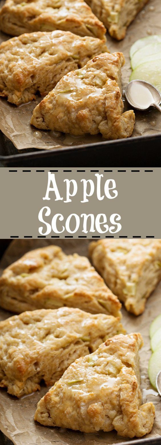 Decadent and easy Apple Scones! The perfect way to use up apples! From @kitchenmagpie