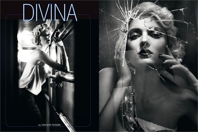 August 2012, Divina. Photos by Vincent Peters - click on the photo to see the complete storyVincent Of Onofrio, Italia Auguste, Italian Vogue, Sophie Sumner, Auguste 2012, Peter O'Tool, Italian Vogue, Vincent Peter, Models Sophie