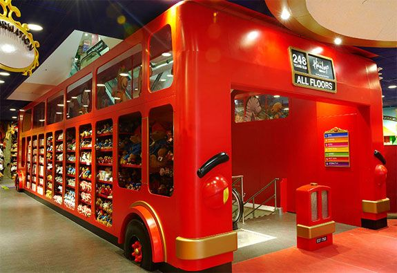 Hamleys in London is seven floors of toys, toys, toys. The staff often dress up in costumes, and kids are encouraged to participate in hands-on toy demonstrations. We love how their playful concept is matched by such creativity and innovation, truly understanding their target market. #retail #London