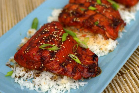 Traeger Grilled Teriyaki Salmon. Nothing is better than homemade teriyaki sauce and grilled salmon!