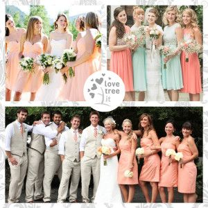 Damigelle d'onore color pesca ~ Peach bridesmaid dresses