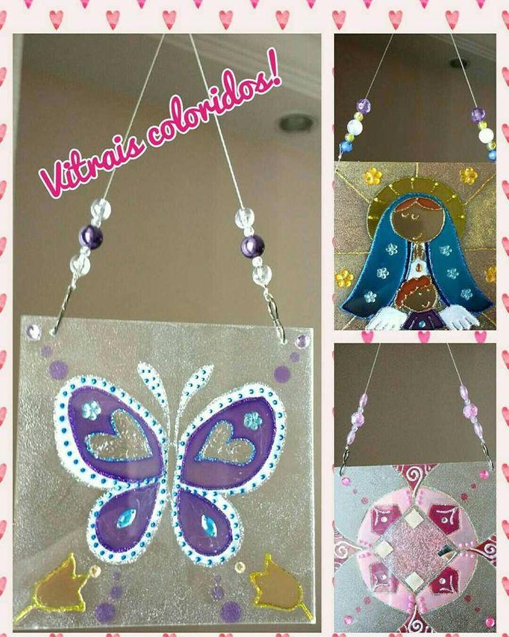 Vitrais coloridos #falsovitral #vitral #vitrales