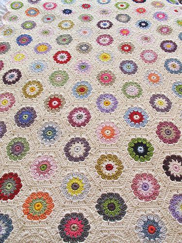 crochet - hexagon blanket