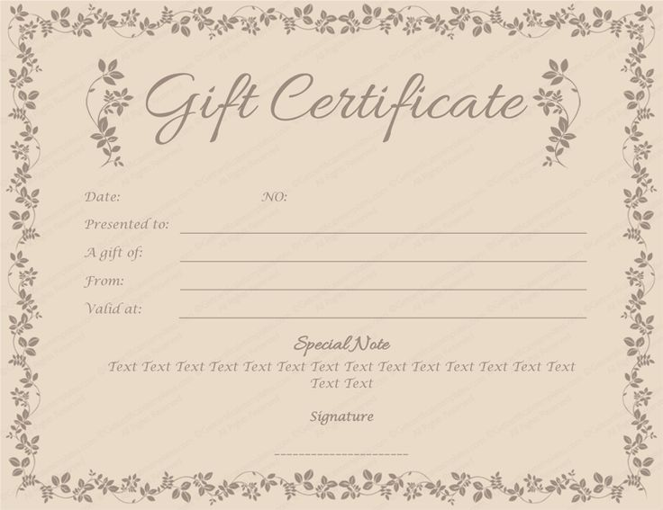 Black Glades Gift Certificate Template Cleaning Pinterest - anniversary certificate template