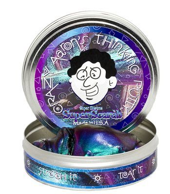 Crazy Aaron's Thinking Putty! You might have to buy this online. I like this color