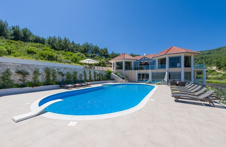 Korcula Beach Villa.  Enjoying a peaceful rural setting, right beside a sheltered cove, this luxury villa in Croatia is a very attractive, spacious and well-equipped house, perfect for a gathering of friends.
