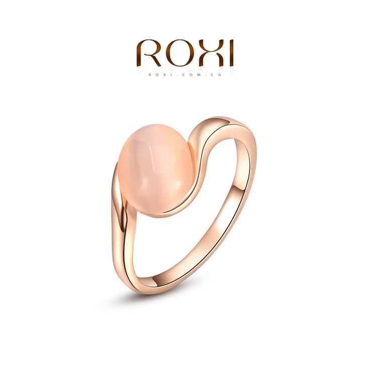 OBABY Jewelry ROXI Brand 2015 Free Shipping Ellipse Opal Ring Rose Gold Wedding Rings For Men And Women Korean Fashion Jewelry