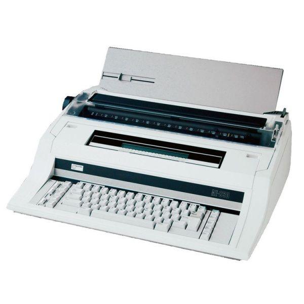 Mesin TIK NAKAJIMA AE 830 adalah mesin tik elektronik yang di nyalakan menggunakan listrik membuat pekerjaan menjadi lebih cepat dan hasil ketik yang di buatpun lebih jelas dari hasil ketik mesin tik manual pada umumnya