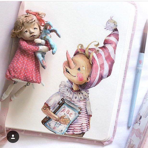 597 отметок «Нравится», 1 комментариев — Галерея Мастеров Игрушек/Кукол (@toys_gallery_) в Instagram: «Автор: @dolls2013_illustrations • *** Ставь#toys_gallery лучшие попадают на нашу страницу! А также…»