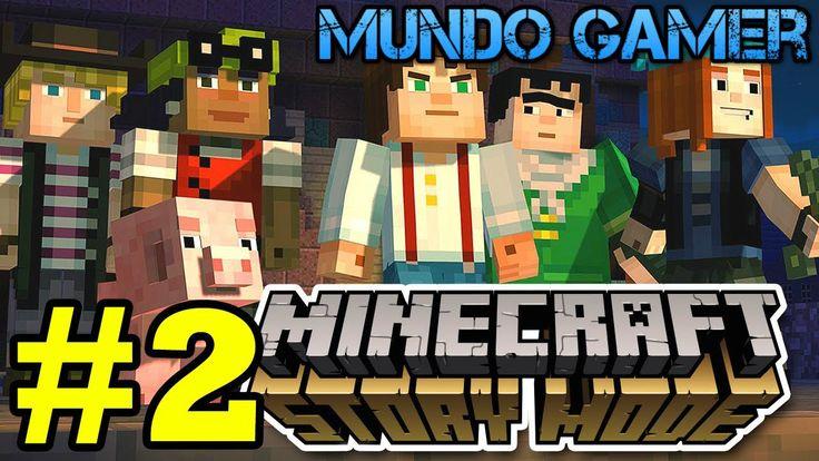 No maten a mi cerdo :D :D  Minecraft Story Mode Episodio 1 Parte 2