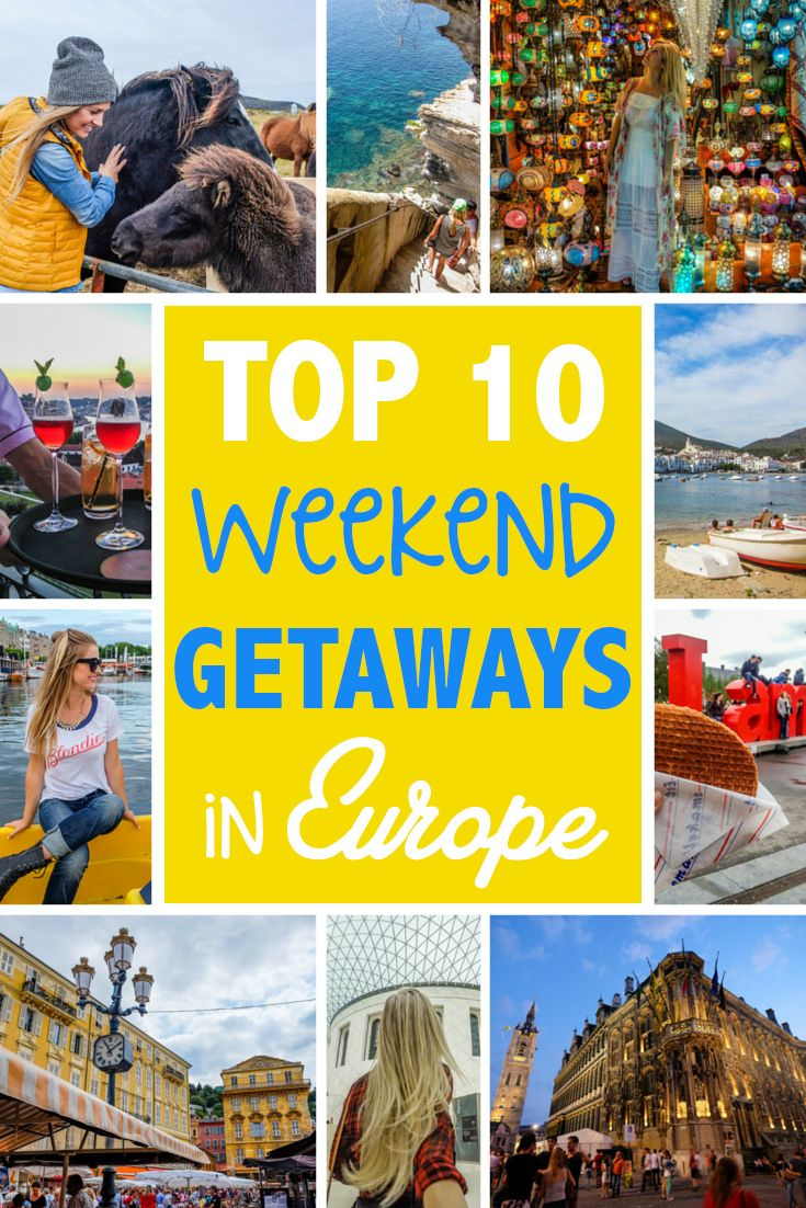 Top 10 Weekend Getaways in Europe