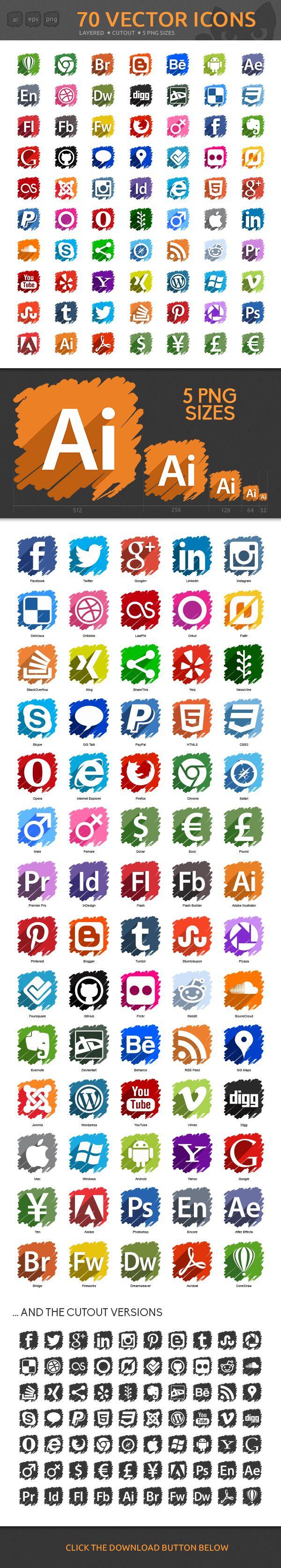 70 Icons on Behance