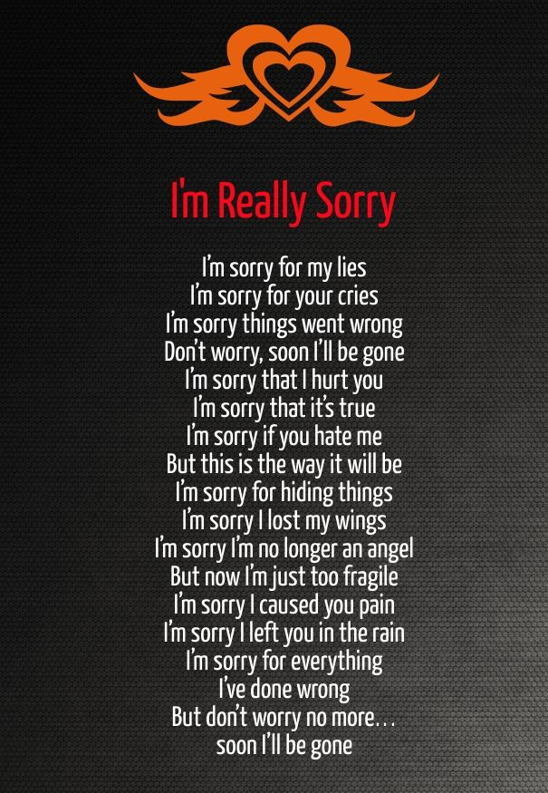 Im sorry and i love you poems