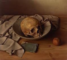 Een schedel die leeg is