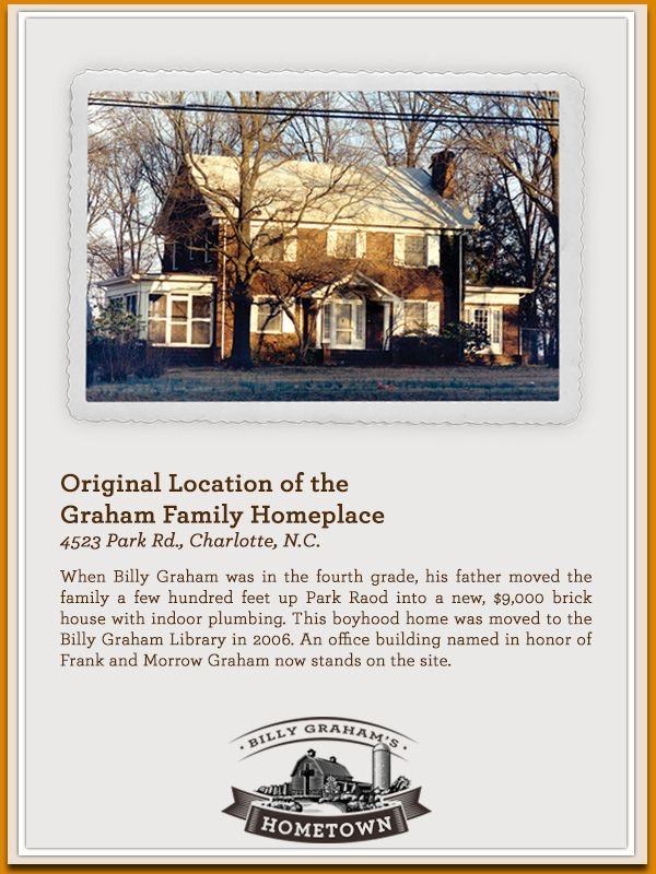 Original Location Of The Graham Family Homeplace 4523 Park Rd Charlotte North Carolina