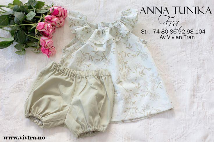 Anna tunika/kjole er en utvikling fra Eileenaromper. Et enkelt plagg å ha om sommer, og er også et plagg som barna kan vokse i. Det du trenger: Mønster kan du printe ut fra linkenen her under. Save…
