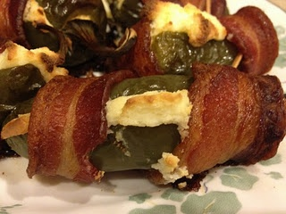 Bacon Wrapped Jalepeno Popper... I love these! I make them all the time mmm now I want some hehe