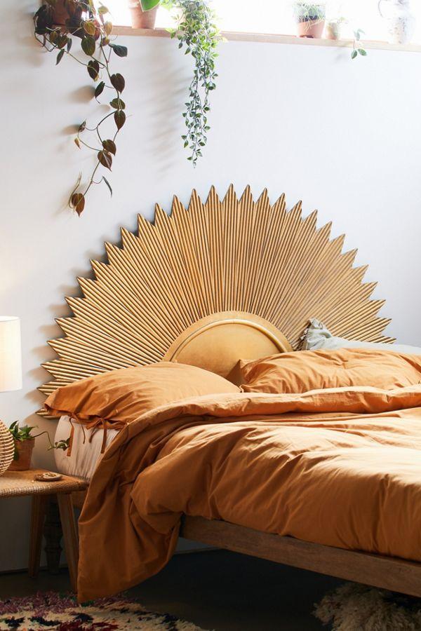 Deco Sun Headboard Home Decor Bedroom Stylish Bedroom Design Bedroom Design