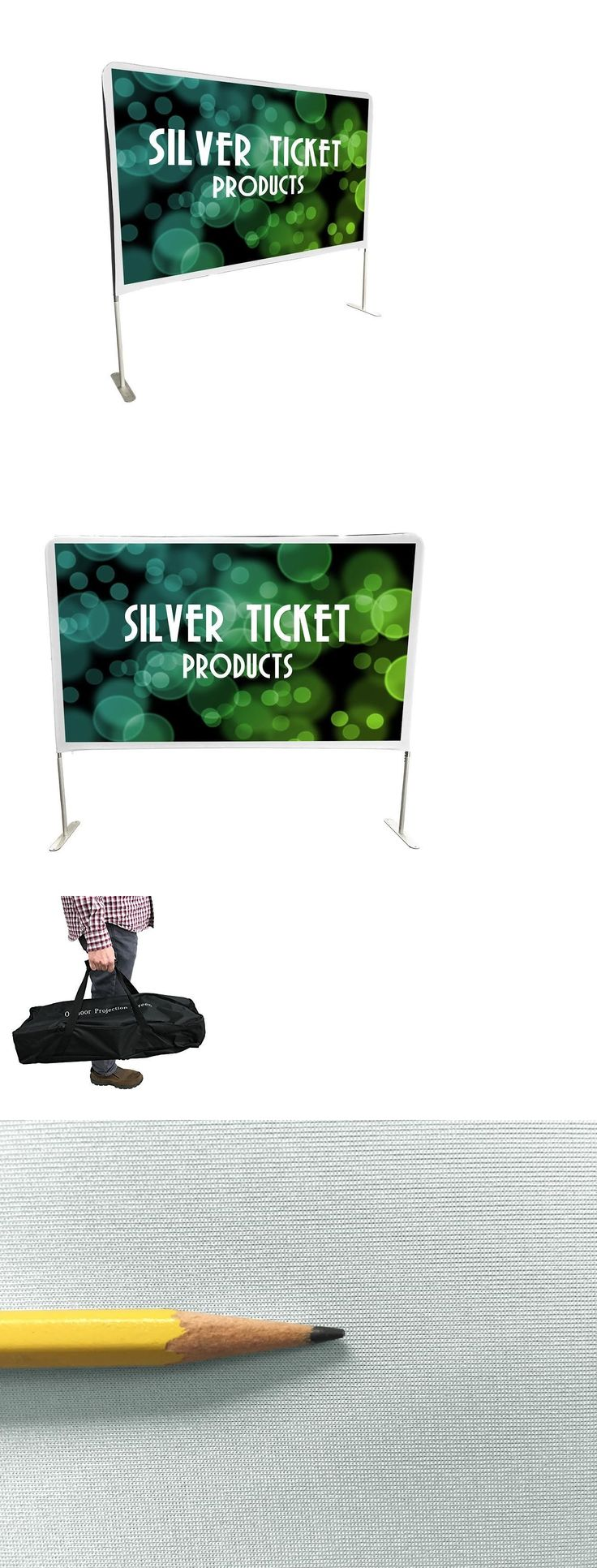 Projection Screens and Material: Ste-169150 Silver Ticket Entry Level Indoor Outdoor Movie Projector Screen 150 -> BUY IT NOW ONLY: $159.98 on eBay!