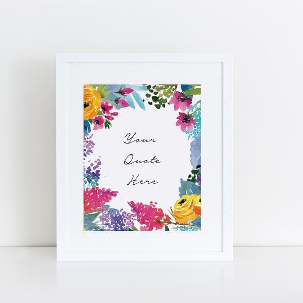 Print - Wild Flowers, Personalized