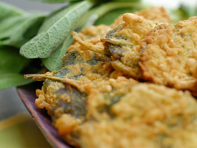 Fried Sage with Anchovies from CookingChannelTV.com