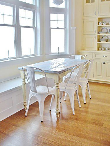 """[gallery]  Custom weathered farmhouse dining table. Various sizes available priced accordingly (pictured - 30"""" x 60"""" x 30""""). If you have specific dime ..."""
