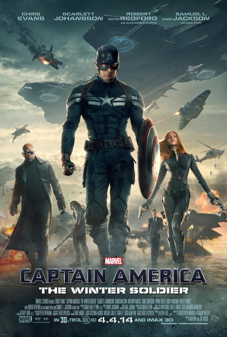 "New ""Captain America: the Winter Soldier"" poster, starring Chris Evans"