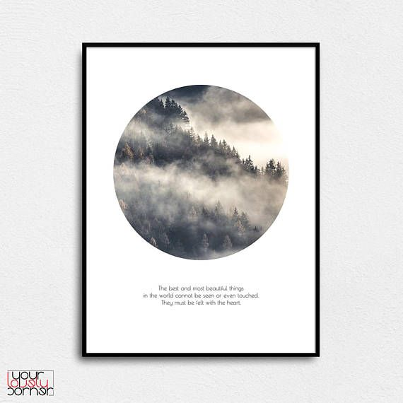 Forest circle poster Inspiration wall art Forest quote