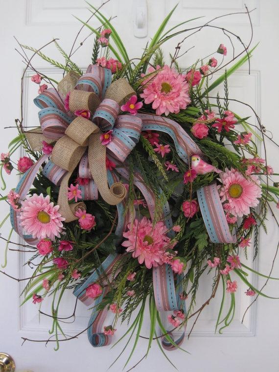 COUNTRY FLOWER GARDEN Wreath by funflorals