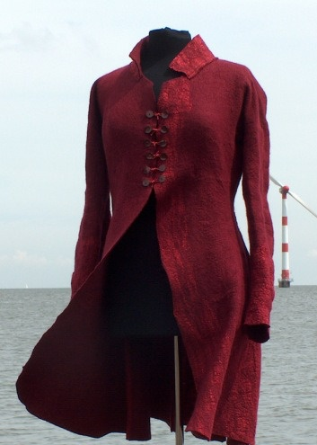 Felt Jacket by Dutch feltmaker Anneke Copier