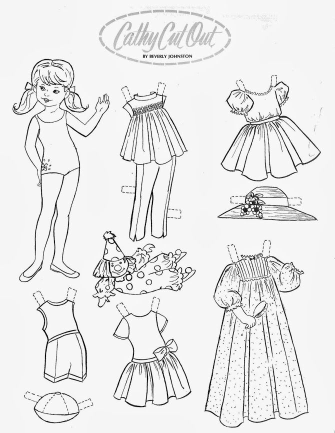 1116 best Paper Doll: Black and White images on Pinterest