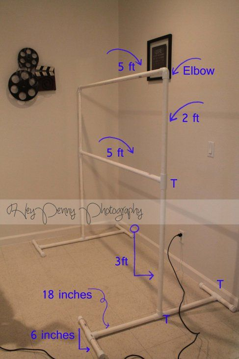 DIY #photography backdrop stand- looks like a giant ladder ball game #photographie