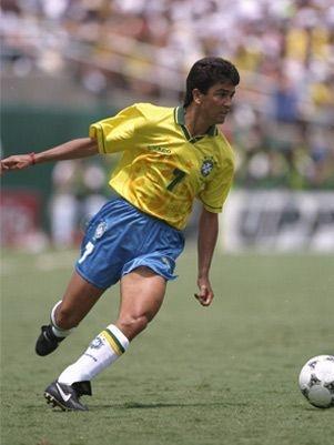 Bebeto, Brazil, USA FIFA World Cup 1994. José Roberto Gama de Oliveira, known as 'Bebeto', born 16 February 1964, Brazilian international forward (1985–1998, 75 caps, 39 goals). Vitória (1983), Flamengo (1983–1989), Vasco da Gama (1989–1991), Deportivo La Coruña (1992–1996), Flamengo (1996), Sevilla (1997), Vitória (1997), Cruzeiro (1997), Botafogo (1998–1999), Toros Neza (1999), Kashima Antlers (2000), Vitória (2000), Vasco da Gama (2001–2002), Al-Ittihad (2002). Bebeto is the 5th highest…