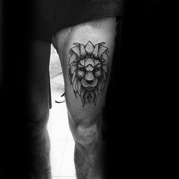 30 Lion Leg Tattoo Designs für Männer – große Katze Tinte Ideen
