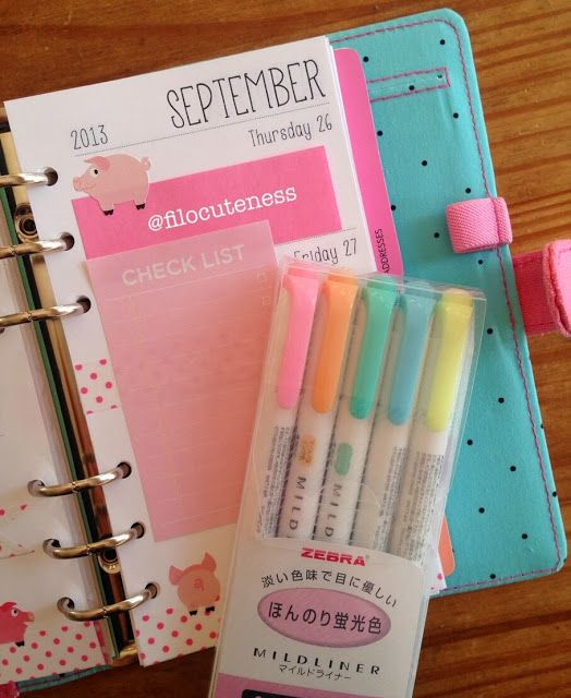 Filo Cuteness: Pink Polka Dots and Pigs in My Planner!