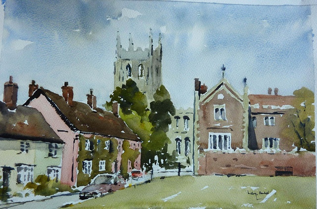 Long Melford, Suffolk by melvynswatercolours, via Flickr