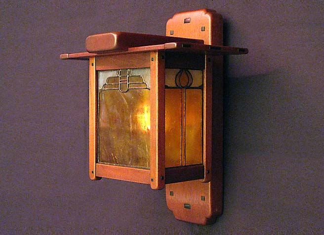 416 best lamps images on pinterest antique lamps stained glass greene and greene style wall sconce by grainger arts crafts studio aloadofball