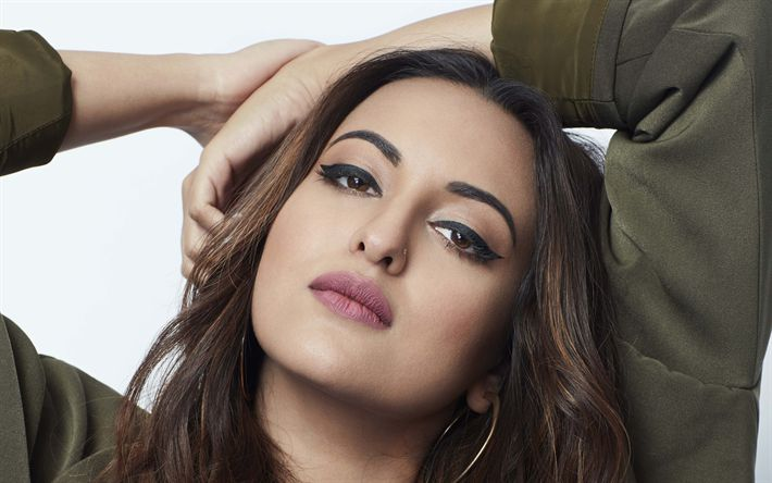 Download wallpapers Sonakshi Sinha, Bollywood, indian actress, beauty, brunette, photoshoot