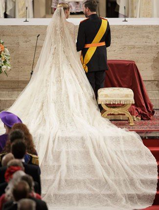 Prince of Luxembourg and Countess of Belgium's Over-The-Top Royal Wedding Style | TheKnot Blog