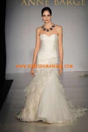 Anne Barge boutique robe de mariée champagne glamour longue paris avec fleur organza