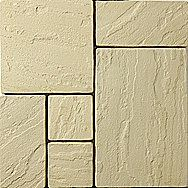 Kilsaran Old Priory Paving Flags Mix - Pack of 4 Sizes 9.6m²